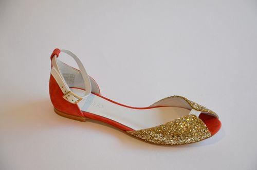 Sandales corail or